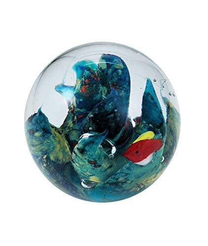 Pfrontenschmuck Traumkugel Traum-Kugel Mini Briefbeschwerer, Unterwasserwelt - Handarbeit, 6 cm Ø