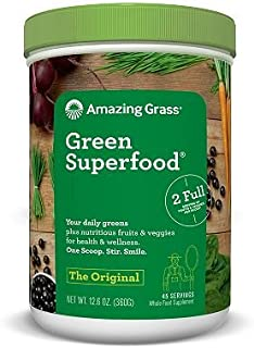 Amazing Grass Green Superfood, Original (45 servings) (Pack of 2) AS