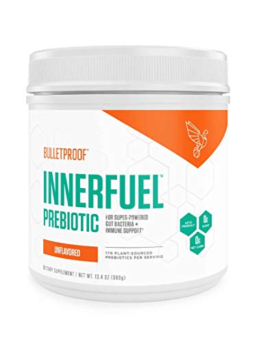 Bulletproof InnerFuel Prebiotic - Plant-Based Dietary Fiber for Super-Powered Gut Bacteria, Digestive Health and Immune Support