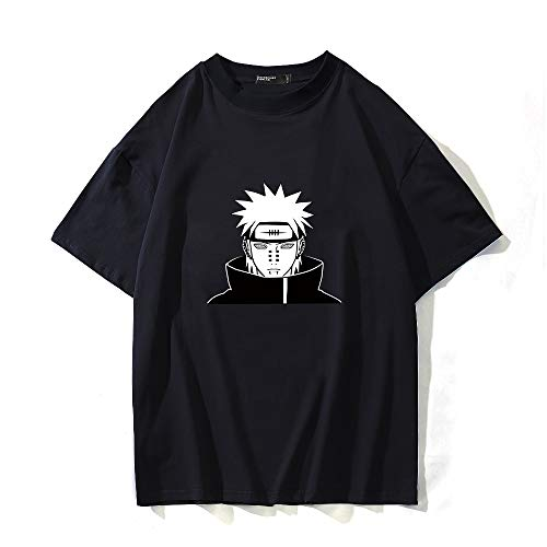 BOBD-DW Naruto,Nagato,Black Summer Cool Skull 3D Printing T-Shirt Designer Tops for Men Short Sleeve Stylish Tees Medium Sale,L