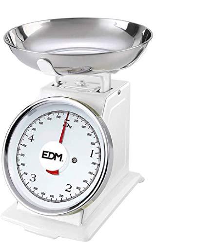 EDM 07523 Bascula Mecanica Cocina, Max 5 kg, Plastic