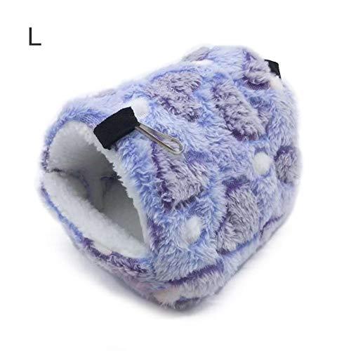 Lucky Family Warm Haustier Schlafsack ,Haustier Baumwollnest Weich Gemütlich Bett und Höhle Hamster Mini Hedgehog Cotton Nest Warme Winterverdickung Baumwollnest