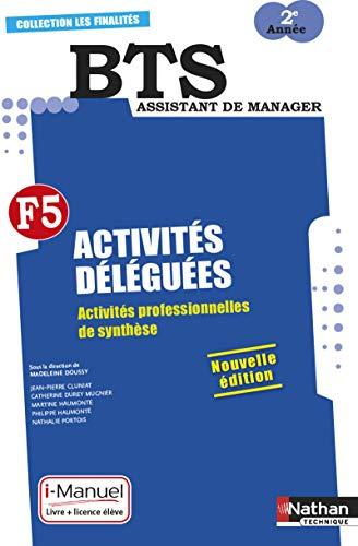 BTS assistant de manager 2e année : Activités déléguées - Activités professionnelles de synthèse