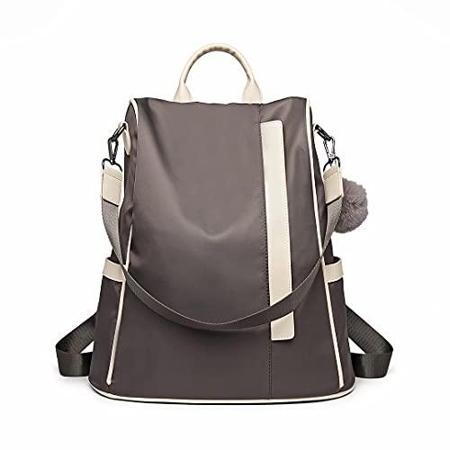 Miss Lulu Damen Rucksäcke Klein Anti Diebstahl Handtasche Casual Daypack für Damen Mädchen M (Grau-1)