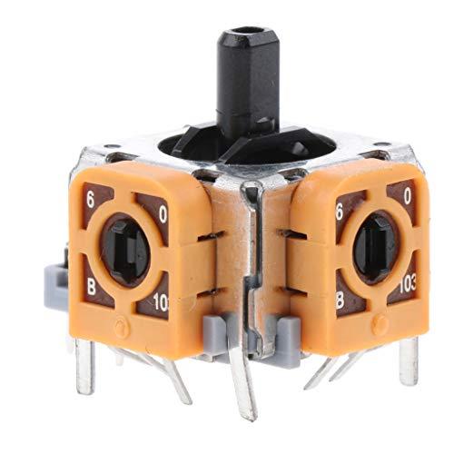 MagiDeal Reemplazo del Módulo del Sensor Analógico del Eje del Joystick del Controlador 3D para Microsoft Xbox 360, Amarillo