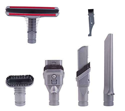 I clean Replacement Dyson V6 Vacuum Cleaner Parts, 5Packs Attachments Kits for Dyson DC59 DC25 DC35 DC34 DC44 Animal Cord Free Handheld Motorhead Vacuum