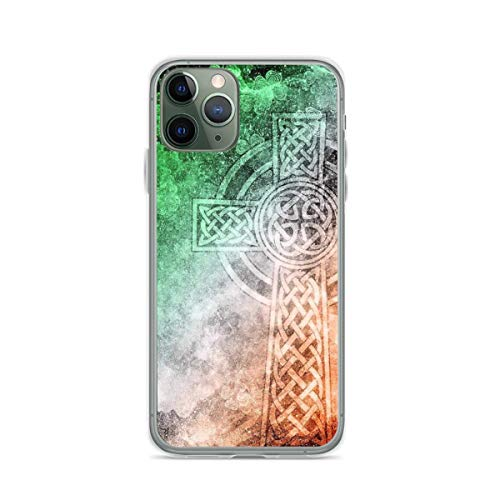 Phone Case Distressed Irish Celtic Cross Compatible with iPhone 6 6s 7 8 X XS XR 11 Pro Max SE 2020 Samsung Galaxy Scratch Bumper Shockproof