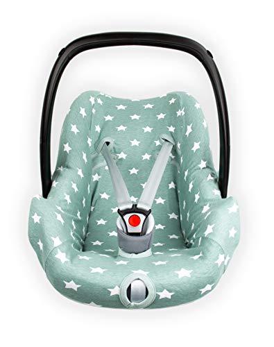 Briljant baby – Funda para Asiento de Coche 0 Thijs – Grupo 0 válido para la Edad de 0 – 12 Meses – 100% Interlock Jade