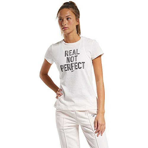 Reebok TE Graphic Real tee Camiseta, Mujer, glapnk, XS