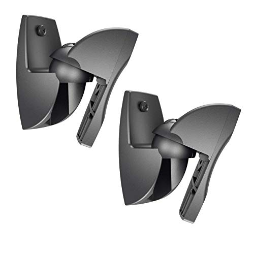 Vogels VLB 500 B Conjunto de soporte de Montaje en Pared para altavoz, Giratorio, Premontado, Máximo 5 kg, Embalaje ecológico, Negro (2 soportes)