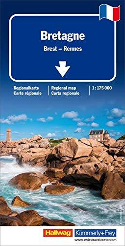 Bretagne Regionalkarte: Brest - Rennes 1:175 000