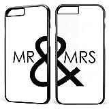 MR & MRS Liebe Hochzeit * 2x Handy Hülle Cover für iPhone 4 5 5S 6 6S Galaxy S4 S5 S6 S7, Handymodell:Apple iPhone 6 / 6S;Randfarbe der Hülle:Schwarz