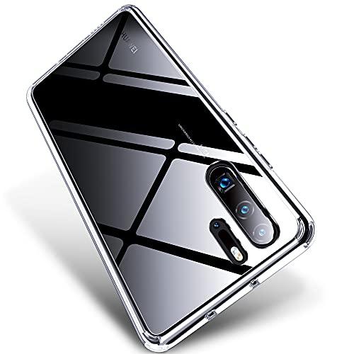 X-level Huawei P30 Pro Hülle, HD Transparent Anti Gelb Schutzhülle, Fallschutz und Stoßfest Handyhülle für Huawei P30 Pro 6,47 Zoll, Transparent