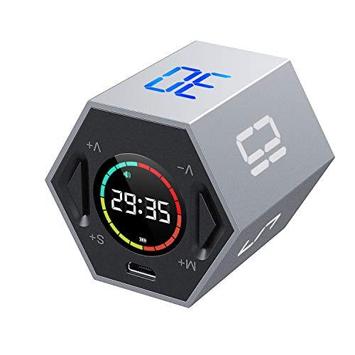 yoyoblue Wiederaufladbarer Küchentimer - Magnetische Countdown-Stoppuhr mit Einstellbarer Lautstärke,LCD-Bildschirm Digitaler Kochtimer, Ideal zum Kochendes Ei, Backen, Sport, Studieren usw