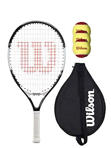 Wilson Federer 19 - Raqueta de tenis con cubierta y 3 pelotas de tenis