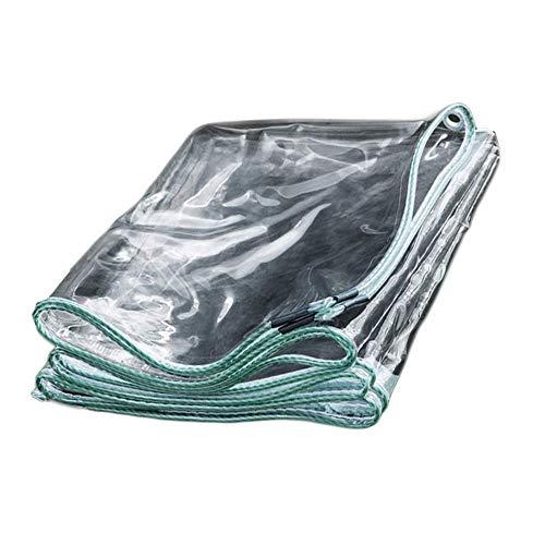 BGSFF Lona Transparente Impermeable de Alta Resistencia con Ojales, Lona Transparente de Vidrio de PVC Transparente, el tamaño se Puede Personalizar, paño para la Lluvia, Utilizado en es