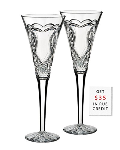Waterford'Wedding' Set Of 2 Flutes