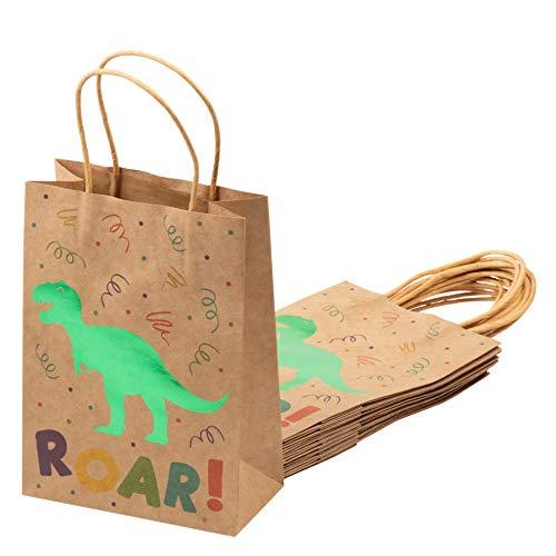 Juvale Lot de 24 sachets Cadeau en Papier Kraft Brun avec poignées pour Enfants - 22,1 x 16 x 7,9 cm