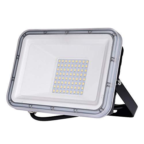 Viugreum Faretto LED da Esterno 50W, IP67 Resistente all'acqua Proiettori per Esterni, Luce Di Sicurezza 5000LM, 3000K Bianco Caldo, Consumo Basso Super Luminoso per Giardino, Magazzino