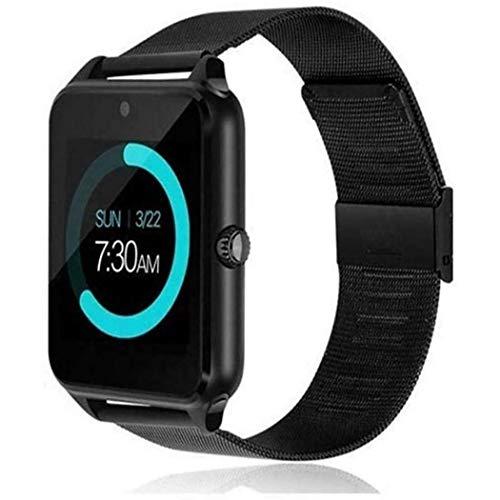 HUAXU Reloj Inteligente Unisex con Pantalla Digital, Llamada Bluetooth, Pulsera Inteligente para Deportes, cámara 1200M + Bluetooth V4.0 + Adecuado para teléfonos Android, iOS (Negro)