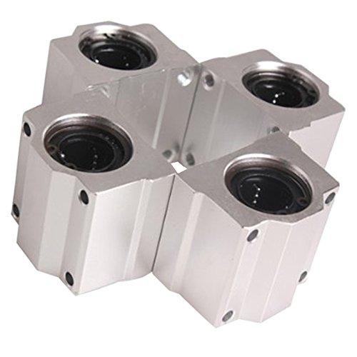 support de roulement - TOOGOO(R)4 Pcs SC20UU 20mm Aluminium Mouvement lineaire support de roulement Block coulissant pour CNC