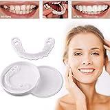 WNGQ Kosmetische Zähne Zahnersatz Provisorischer Temporäre Zahn Reparatur Set Für Schnappen Deckel Fehlende Zähne Comfort Fit Snap on Flex