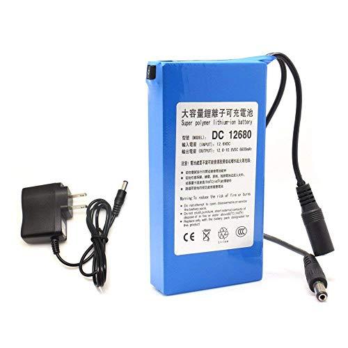 JIAN YA NA DC12680 Batería recargable portátil 6800mAh 12V para cámaras videocámaras ✅
