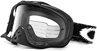 Oakley Crowbar Graphic Frame MX Goggles (True Carbon Fiber Frame/Clear Lens, One Size)