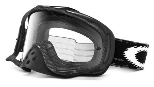 Oakley Crowbar MX Lunettes de Soleil Masque vélo ou Moto Carbon Fiber Print/Clear