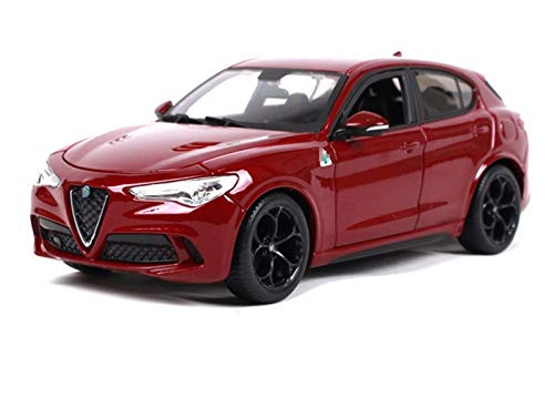 Snowdler Control Remote Coche Modelo de coche Modelo de coche 1:24 para Alfa para Romeo para STELV10 SUV Simulación de Simulación Control remoto Aleación de automóvil Modelo de Auto Modelo Modelo Mode