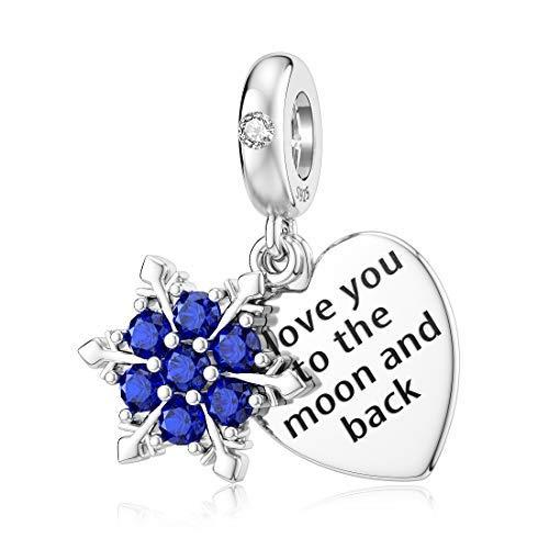Encantos de Navidad para pulsera Pandora plata esterlina corazón cz copo de nieve bolas para las mujeres 'You are Braver Than You..