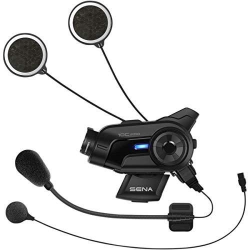 Sena 10C Pro Motorcycle Bluetooth Headset Camera and Communication System, Black (10C-PRO-01)