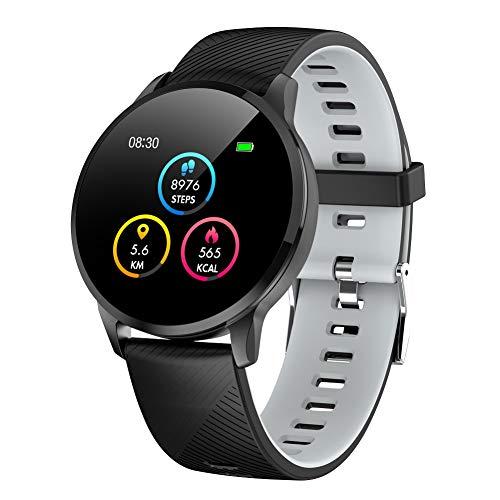 Padgene Smartwatch Impermeable Pantalla Color Pulsera Actividad Reloj Inteligente Deportivo con Monitor de Ritmo Cardiaco, Sueño, Calorías, Notificación de Llamada y Mensaje para Android e iOS