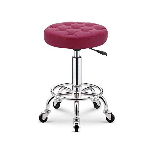 JFFFFWI Barhocker Imple Lattice Bar Spa Salon Massagegerät Manikürhocker (Farbe: Pink)