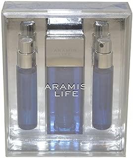 Aramis Life Cologne 3 Piece Gift Set for Men (Eau de Toilette Spray, 2 Refills)