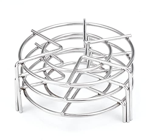 3Pcs Steam Rack,Alele 5.5inch Stainless Steel Tall Trivets for Electric Pressure Cooker