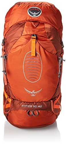 Osprey Men's Atmos AG 50 Backpack (2017 Model), Cinnabar Red, Large