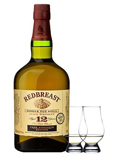 Redbreast 12 Jahre Cask Strenght 0,7 Liter + 2 Glencairn Gläser