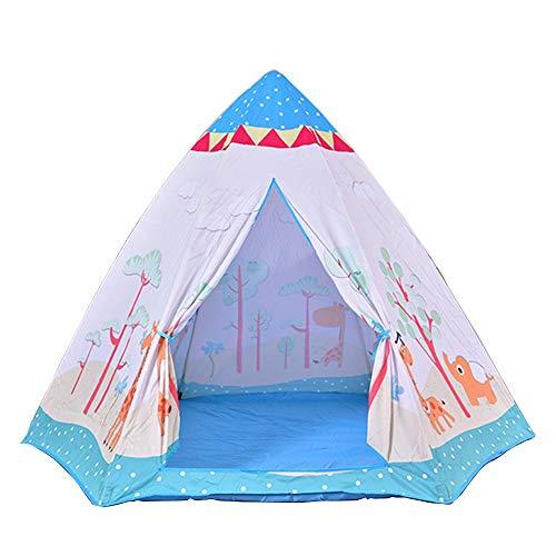 FHLH Carpa Infantil Multifuncional Carpa del Hexagonal de Juguete for niños Salas de casa y la Tienda de niños al Aire Libre Game House Conveniente y Diversión (Color : Blue, Size : 180x156x127cm)