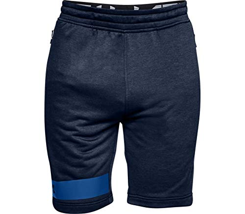 Preisvergleich Produktbild Under Armour Herren Kurze Hose MK1 Terry Shorts,  Academy / Royal (408),  SM