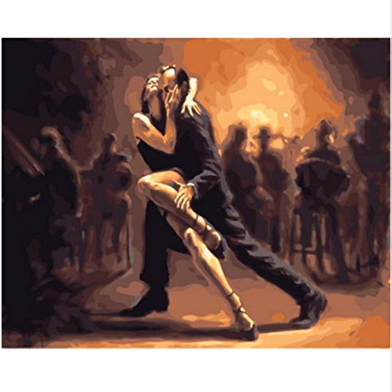 XIGZI Malen nach Zahlen wanddekoration ölgemälde DIY DIY DIY Bild auf leinwand für hauptdekoration Dance 40x50 cm,Mit Holzrahmen,G B07NVQZ9BZ | Feinen Qualität  565dd5