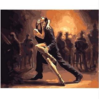 XIGZI Malen nach Zahlen wanddekoration ölgemälde DIY Bild auf auf auf leinwand für hauptdekoration Dance 40x50 cm,Mit Holzrahmen,G B07NVQZ9BZ  Attraktive Mode ea3c6f