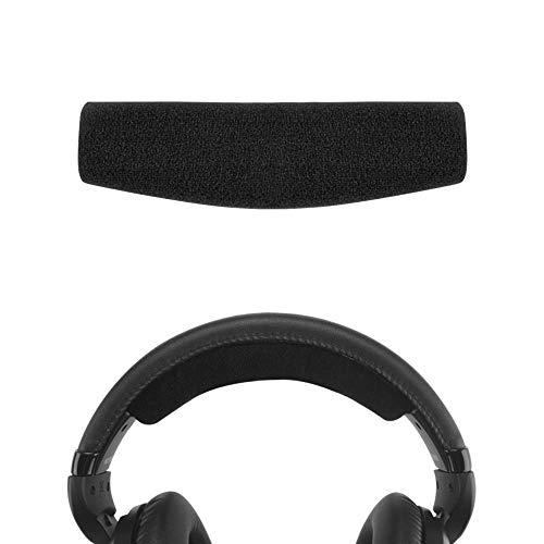 Geekria - Almohadillas de repuesto para auriculares Senheiser HD515, HD518, HD555, HD558, HD595, HD598CS, piezas de reparación/piezas de reparación de auriculares, diadema (negro)