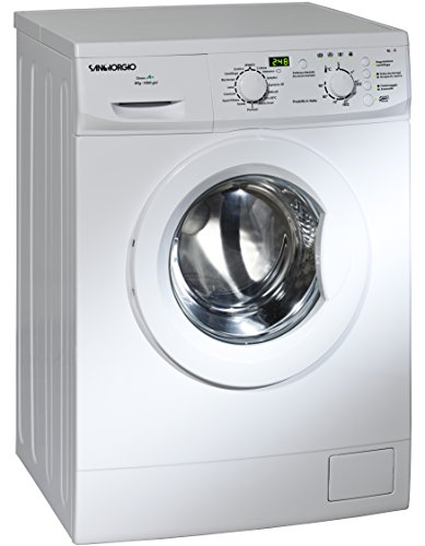 SanGiorgio SES610D freestanding Front-load 6kg 1000RPM A++ White washing machine - Washing Machines (Freestanding, Front-load, White, Buttons, Rotary, Left, 180°)