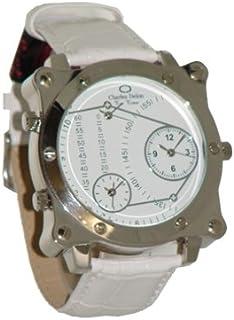 Charles Delon Mens Quartz Watch, Analog Display and Leather Strap 5264 GPWW