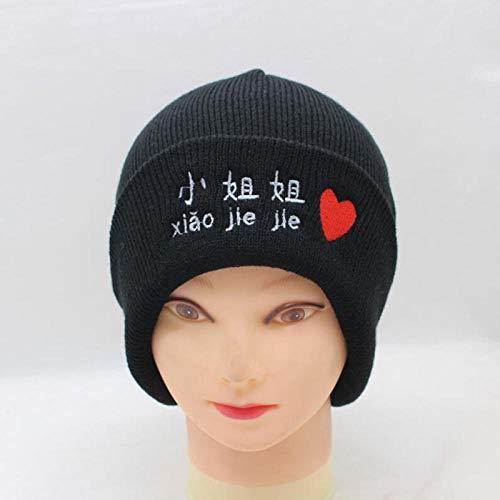 FUDgyuhgh Sombrero de Tocado Bordado con Letras de Invierno Chino, Her
