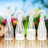 LAMEK 4x200ml Botella de Spray Vacía Atomizador de Plantas Transparente Botella...
