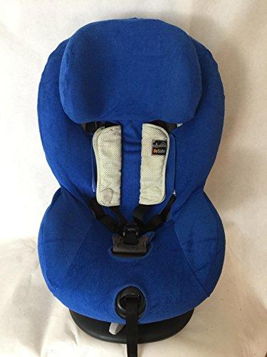 Sommerbezug Schonbezug Frottee für HTS Besafe iZi Comfort X3 Combi X4 Kid X2 Plus Frottee 100% Baumwolle blau