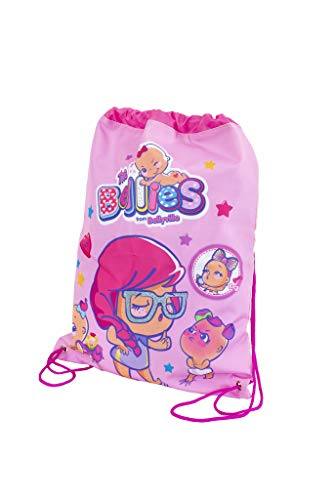 The Bellies from Bellyville 700015959 - Mochila Saco con Cuerdas para niños y niñas a Partir de 3 años, Color Rosa (Famosa)