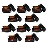 AMOYER 10pcs, 20 gram Amber vacío envases cosméticos tarros de Cristal de Ejemplo